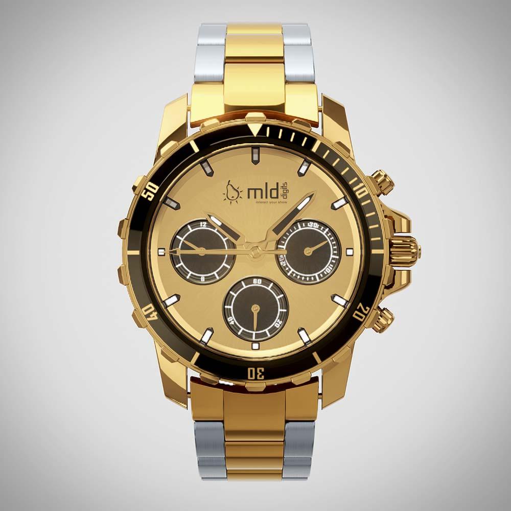 [How To] Von CAD Daten zu Echtzeit Produkt Marketing 3d echtzeit rendering luxus uhr gold frontal