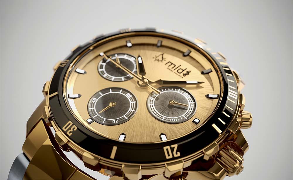 [How To] Von CAD Daten zu Echtzeit Produkt Marketing 3d echtzeit rendering luxus uhr gold nahaufnahme